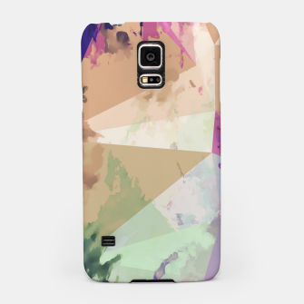 Miniature de image de psychedelic geometric triangle polygon pattern abstract in pink green brown blue Samsung Case, Live Heroes