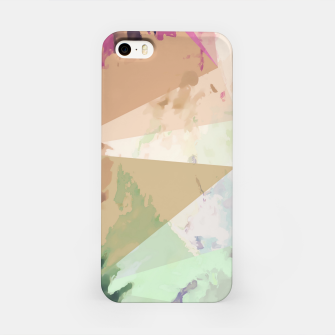 Miniature de image de psychedelic geometric triangle polygon pattern abstract in pink green brown blue iPhone Case, Live Heroes