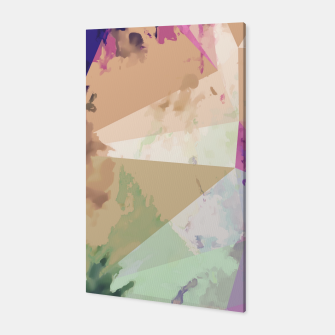 Miniature de image de psychedelic geometric triangle polygon pattern abstract in pink green brown blue Canvas, Live Heroes
