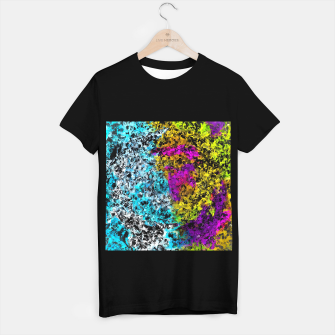 Miniaturka psychedelic graffiti painting abstract in pink yellow blue green T-shirt regular, Live Heroes