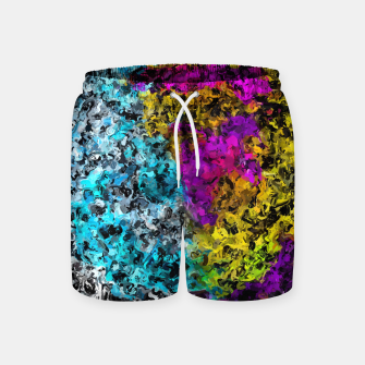 Miniaturka psychedelic graffiti painting abstract in pink yellow blue green Swim Shorts, Live Heroes