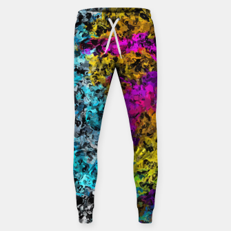 Miniaturka psychedelic graffiti painting abstract in pink yellow blue green Sweatpants, Live Heroes