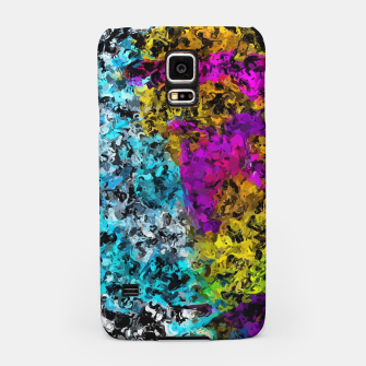 Miniaturka psychedelic graffiti painting abstract in pink yellow blue green Samsung Case, Live Heroes