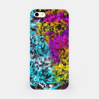 Miniaturka psychedelic graffiti painting abstract in pink yellow blue green iPhone Case, Live Heroes
