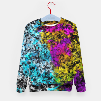 Miniaturka psychedelic graffiti painting abstract in pink yellow blue green Kid's sweater, Live Heroes