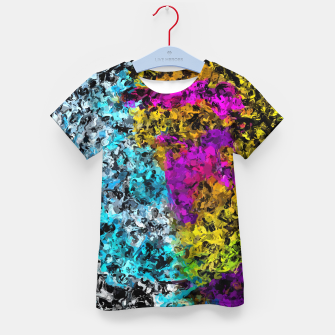 Miniaturka psychedelic graffiti painting abstract in pink yellow blue green Kid's t-shirt, Live Heroes
