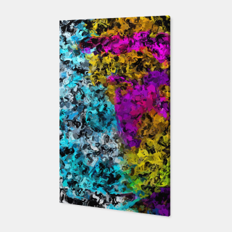 Miniaturka psychedelic graffiti painting abstract in pink yellow blue green Canvas, Live Heroes