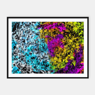 Miniaturka psychedelic graffiti painting abstract in pink yellow blue green Framed poster, Live Heroes