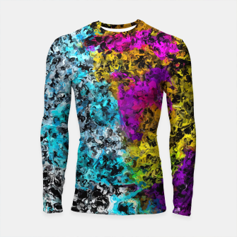 Miniaturka psychedelic graffiti painting abstract in pink yellow blue green Longsleeve rashguard , Live Heroes