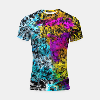 Miniaturka psychedelic graffiti painting abstract in pink yellow blue green Shortsleeve rashguard, Live Heroes
