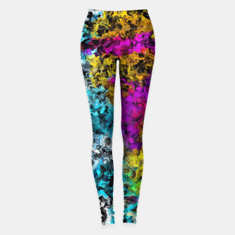 Miniaturka psychedelic graffiti painting abstract in pink yellow blue green Leggings, Live Heroes