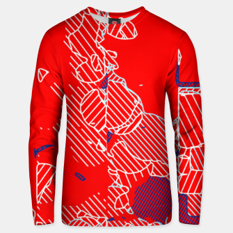 Miniaturka graffiti drawing and painting abstract in red and blue Unisex sweater, Live Heroes