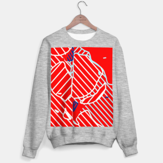 Miniaturka graffiti drawing and painting abstract in red and blue Sweater regular, Live Heroes