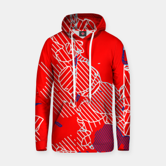 Miniaturka graffiti drawing and painting abstract in red and blue Hoodie, Live Heroes