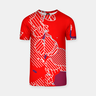Miniaturka graffiti drawing and painting abstract in red and blue T-shirt, Live Heroes