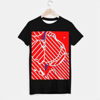 Miniaturka graffiti drawing and painting abstract in red and blue T-shirt regular, Live Heroes
