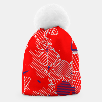 Miniaturka graffiti drawing and painting abstract in red and blue Beanie, Live Heroes