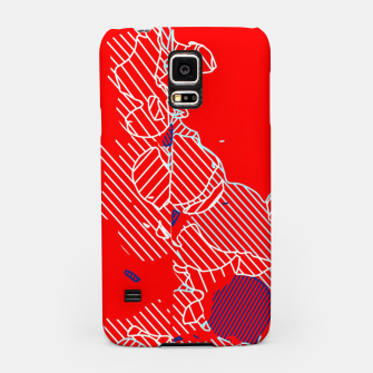 Miniaturka graffiti drawing and painting abstract in red and blue Samsung Case, Live Heroes