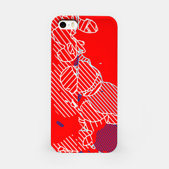 Miniaturka graffiti drawing and painting abstract in red and blue iPhone Case, Live Heroes