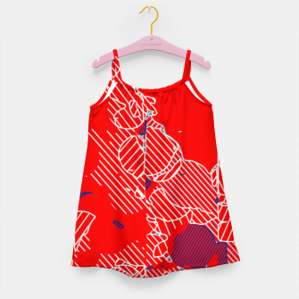 Miniaturka graffiti drawing and painting abstract in red and blue Girl's dress, Live Heroes