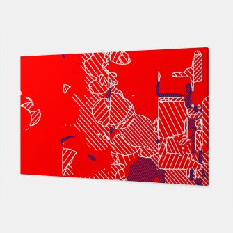 Miniaturka graffiti drawing and painting abstract in red and blue Canvas, Live Heroes