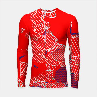 Miniaturka graffiti drawing and painting abstract in red and blue Longsleeve rashguard , Live Heroes