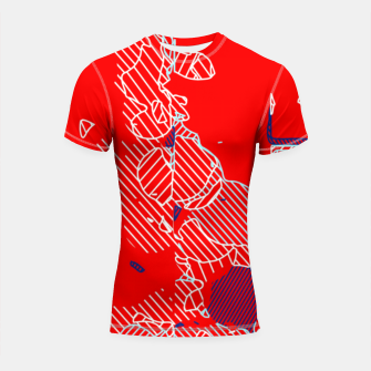 Miniaturka graffiti drawing and painting abstract in red and blue Shortsleeve rashguard, Live Heroes
