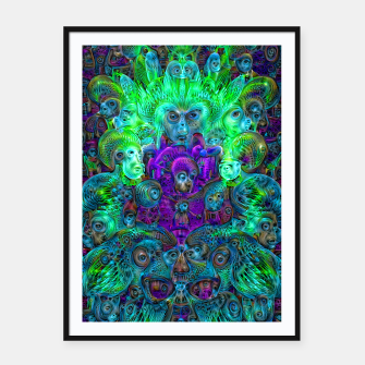 Thumbnail image of Katarina's Dreams 8 (psychedelic, trippy) Framed poster, Live Heroes