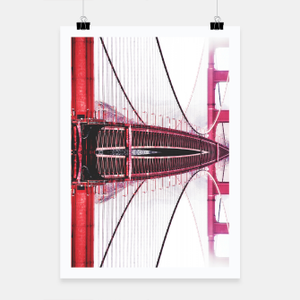 Thumbnail image of Golden Gate bridge, San Francisco Poster, Live Heroes