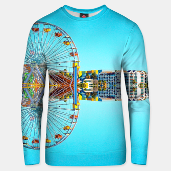 Miniaturka ferris wheel with buildings and blue sky Unisex sweater, Live Heroes