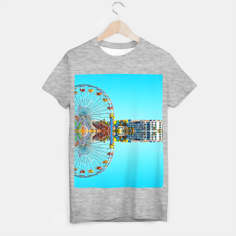 Miniaturka ferris wheel with buildings and blue sky T-shirt regular, Live Heroes