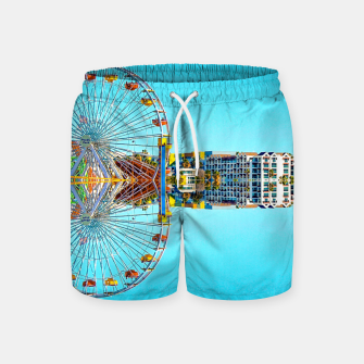Miniaturka ferris wheel with buildings and blue sky Swim Shorts, Live Heroes