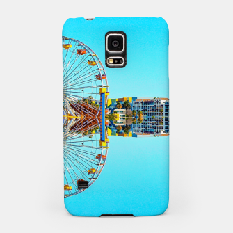 Miniaturka ferris wheel with buildings and blue sky Samsung Case, Live Heroes