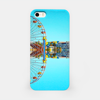 Miniaturka ferris wheel with buildings and blue sky iPhone Case, Live Heroes