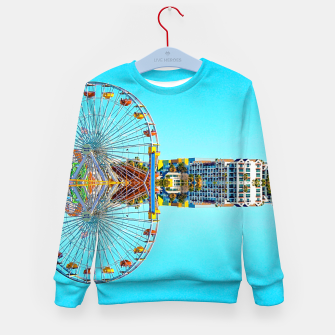 Miniaturka ferris wheel with buildings and blue sky Kid's sweater, Live Heroes