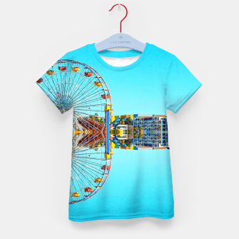 Miniaturka ferris wheel with buildings and blue sky Kid's t-shirt, Live Heroes