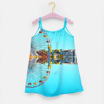 Miniaturka ferris wheel with buildings and blue sky Girl's dress, Live Heroes