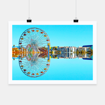 Miniaturka ferris wheel with buildings and blue sky Poster, Live Heroes