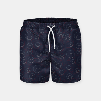 Miniaturka Red Blue and Beige Overlaying Circles on Dark Blue  Swim Shorts, Live Heroes