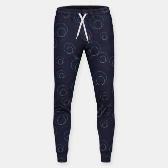 Miniaturka Red Blue and Beige Overlaying Circles on Dark Blue  Sweatpants, Live Heroes