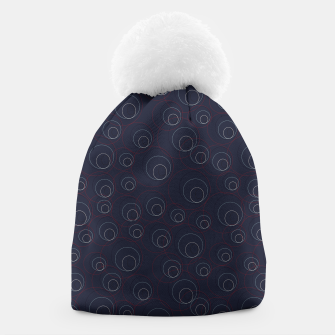 Miniaturka Red Blue and Beige Overlaying Circles on Dark Blue  Beanie, Live Heroes