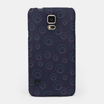 Miniaturka Red Blue and Beige Overlaying Circles on Dark Blue  Samsung Case, Live Heroes