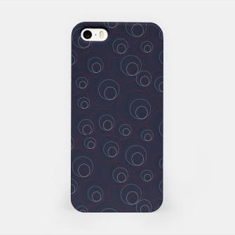Miniaturka Red Blue and Beige Overlaying Circles on Dark Blue  iPhone Case, Live Heroes