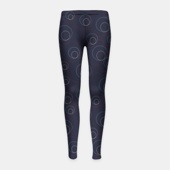 Miniaturka Red Blue and Beige Overlaying Circles on Dark Blue  Girl's leggings, Live Heroes