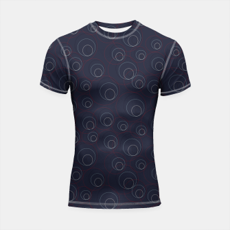 Miniaturka Red Blue and Beige Overlaying Circles on Dark Blue  Shortsleeve rashguard, Live Heroes