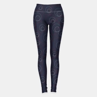 Miniaturka Red Blue and Beige Overlaying Circles on Dark Blue  Leggings, Live Heroes