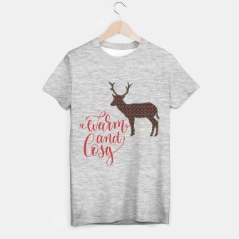 Miniaturka Warm and Cosy - deer silhouette T-shirt regular, Live Heroes