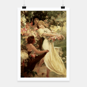 Thumbnail image of Spirit Of Spring by Alphonse Mucha Poster, Live Heroes