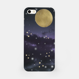 Thumbnail image of Cloudy Purple Midnight Blue Starry Night Sky #1 #decor #art  iPhone-Hülle, Live Heroes