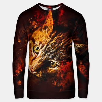 Miniatur gxp scary lurking cat from right splatter watercolor Unisex sweater, Live Heroes